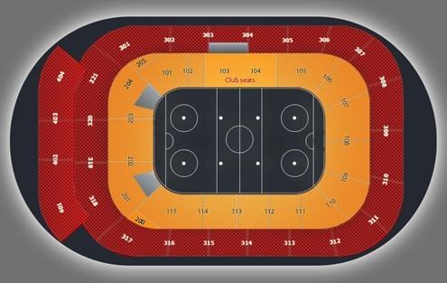 Схема стадиона. План первого