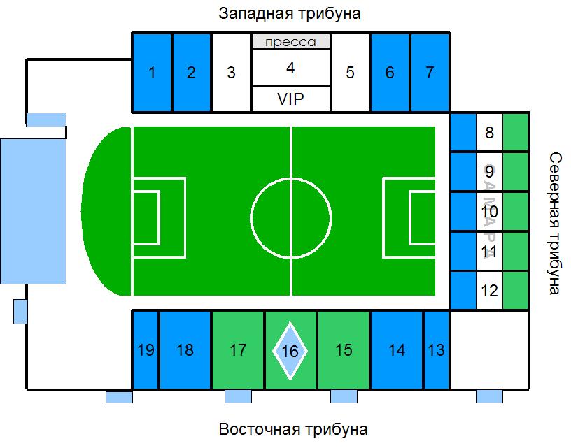 Схема стадиона